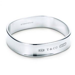 TIFFANY & CO. Square 1837 Bangle Bracelet